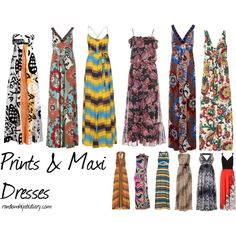 Prints & Maxi Dresses!, created by randomhijabi