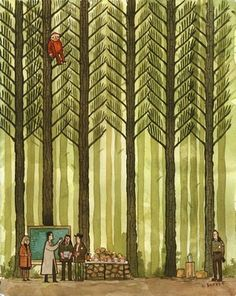 "Scott Campbell ""Concentrating on the J's"" for In the Trees: TWIN PEAKS Anniversary Art Exhibition Scott Campbell, Audrey Horn, Serie Twin Peaks, Illustrations, Illustration Art, David Lynch Twin Peaks, In The Tree, Pop Culture, Geek Stuff"