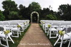 I would like to have my wedding at the Raspberry Plantation. This is the ceremony in the Formal Gardens Leesburg Va, Formal Gardens, Business Events, Northern Virginia, Rehearsal Dinners, Event Venues, Garden Wedding, Special Events, Raspberry