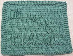 Ravelry: I Heart Music Knit Dishcloth pattern by Lisa Millan Knitted Squares Pattern, Knitting Squares, Dishcloth Knitting Patterns, Crochet Dishcloths, Knit Or Crochet, Knitting Stitches, Chrochet, Baby Knitting, Knitted Washcloths