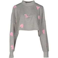 Lazy Oaf Sweatshirt ($73) ❤ liked on Polyvore featuring tops, hoodies, sweatshirts, crop top, grey, cropped sweatshirt, lazy oaf, lazy oaf sweatshirt, gray crop top and grey top