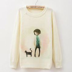 Buy Maymaylu Dreams Long Sleeve Printed Knit Top at YesStyle.com! Quality products at remarkable prices. FREE WORLDWIDE SHIPPING on orders over US$35.