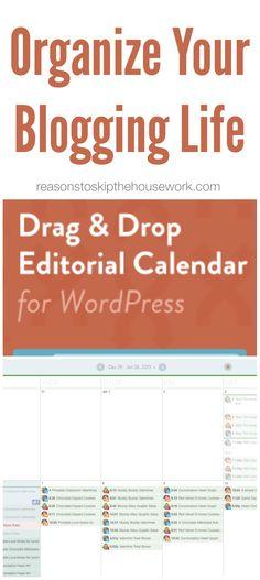 Organized Blogging--co-schedule editorial calendar for wordpress