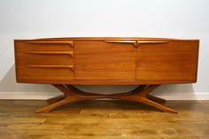 The most sought after of all British teak sideboards by Beithcraft of Scotland c 1970