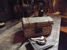 Early hide-covered trunk: Home of the Mountain Dweller