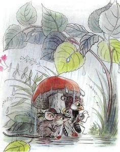 Сказка: Под грибом (иллюстрации: Сутеев В.) Beatrix Potter, Adult Coloring Pages, Art Studios, Cute Drawings, Illustration, Fairy Tales, Clip Art, Watercolor, Retro