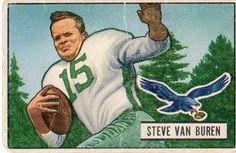 1951 Bowman #10 Steve Van Buren Front