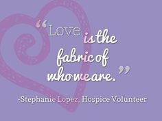Fabric of Love Quote