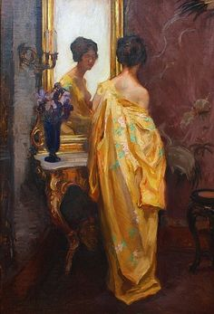 Wilhelm Hempfing, The Yellow Robe, early 20th c.