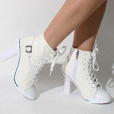 White Heel Sneakers | Tsaa Heel