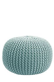 Our cable knit weave pouffe is a basic way to decorate any lounge setting. Filled with recycled polystyrene beads, this pouffe provides comfort with ease of mobility.