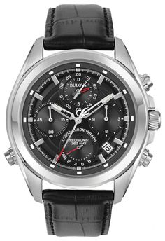 e7179907d Bulova Men's Precisionist Chronograph Watch 96B259 with precise timing to  1/1000th of a second