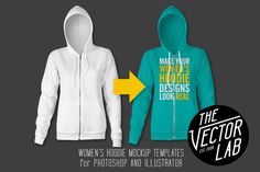 Women's Hoodie Mockup Templates by TheVectorLab on Creative Market