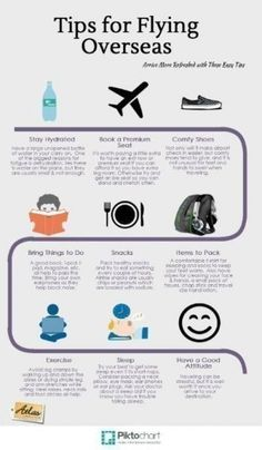 Tips for Flying Overseas – Travel Infographic