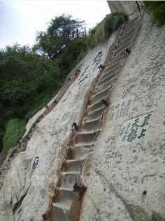 Day 36: Huashan Hua Shan Mountain, Mount Hua, Hua Mountain, XiAn Xi'An City, ShanXi Province, China, sunrise, sunset, Sea of Clouds, cloud plains , the top of hill, peak, Buddhism, Buddha, Taoism, temple