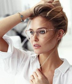 trendy glasses frames for women made of thin metals - trendy glasses . - trendy glasses frames for women made of thin metals – trendy glasses frames for women mad - New Glasses, Glasses Online, Girls With Glasses, Cat Eye Glasses, Glasses Outfit, Rose Gold Glasses, Glasses Style, Eyeglasses For Women Round Face, Makeup With Glasses