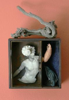The Visible Heavens, mixed media assemblage by Anastasia Osolin
