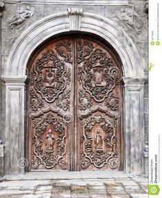 The Old Door Of San Agustin Church (Manila, Philippines) - Download From Over 36 Million High Quality Stock Photos, Images, Vectors. Sign up for FREE today. Image: 50773050