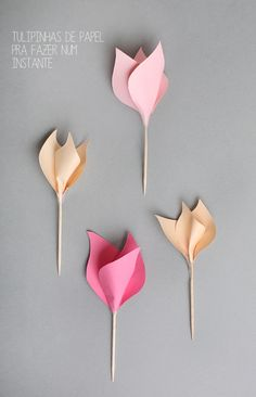 7 Paper Flower Crafts For Valentine's Day ⋆ Handmade Charlotte diy paper flower craft - Diy Paper Crafts Handmade Flowers, Diy Flowers, Fabric Flowers, Paper Flowers, Flower Ideas, Flower Diy, Origami Flowers, Fresh Flowers, Spring Flowers