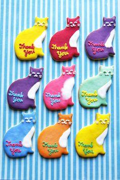 kitty sugar cookies