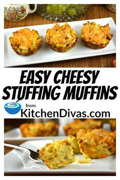 These Easy Cheesy Stuffing Muffins are incredible for a quick and easy side dish or are making a holiday dinner. Perfect with or without gravy! Best Dinner Recipes, Brunch Recipes, Muffin Recipes, Bread Recipes, Easy Make Ahead Appetizers, Easy Meals, Side Dishes Easy, Side Dish Recipes, Easy Recipes