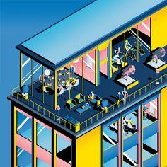 Colorful Illustrations in London – Fubiz Media