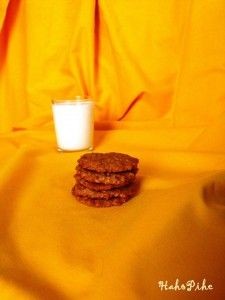 Oatmeal cookies with apricot