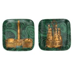 Pair of Fornasetti 'Stoviglie' Plates