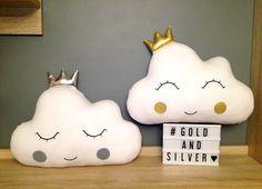 Poduszka chmurka z koroną - Cud-Miod - Poduszki dla dzieci