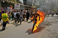 A exile Tibetan in deadly protest