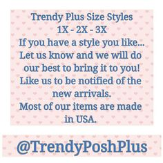 Plus Size Tops, Cardigans, & Pants Coming Soon Tops