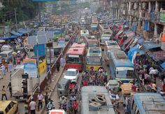The Bangladeshi Traffic Jam That Never Ends.