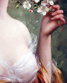 Blossoming Beauty (detail) Emile Vernon (1872-1919)