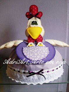 AdriArt,Arte em eva: Cobre bolo de galinha