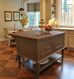 Kitchen renovation inspiration. This is one of the best kitchen island ideas if you're looking for a vintage aesthetic and a timeless interior design idea for your kitchen renovation. Affordable Kitchen Cabinets, Custom Kitchen Cabinets, Custom Kitchens, Kitchen Prices, Country Kitchen Cabinets, Kitchen Island Decor, Kitchen Cabinet Styles, Kitchen Furniture, Kitchen Islands