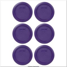 Pyrex 7200-PC Plum Purple Round Plastic Food Storage Replacement Lids - 6 Pack>>> You can get additional details at the image link.(It is Amazon affiliate link) #cookwareorganization
