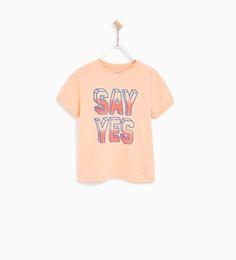 "ZARA - KIDS - ""SAY YES"" T-shirt"