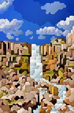 Landscape Illustration by Siggi Eggertsson