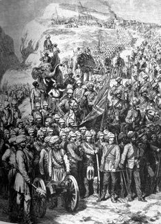 Team Photograph at the Battle of Kandahar / General Robert's March to Kandahar and the Battle of Baba Wali, 1880 (Second Afghan War) Pictures Of Soldiers, Last Battle, Age Of Empires, Afghanistan War, Highlanders, Indian Army, British Colonial, World Peace, British Army