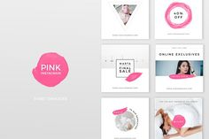 Pink Instagram Pack by Swiss_cube on @creativemarket