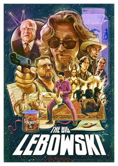 The Big Lebowski Movie Poster, available at 45x32cm.This poster is printed on matt coated 350 gram paper.