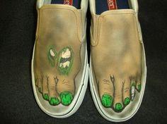 Zombie Feet Custom Designed Shoes