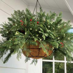 Christmas Hanging Basket Christmas Outdoor Decorating