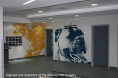 Great designs and hygienic wall cladding with Altro Whiterock Digiclad. Find out the powerful reasons for using this wall solution Hospital Design, Pet Hospital, Pet Clinic, Decorative Wall Panels, Clinic Design, Wall Cladding, Wall Art Designs, Pet Store, Decoration
