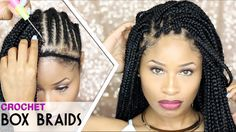 """Hey my lovelies! Today I'm here with a tutorial on how I did my crochet box braids. I used just under 7 packs of 24"""" small crochet box braid hair for this an..."""