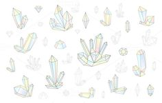 Set 18 isolated fashion crystals by Modern vector on @creativework247