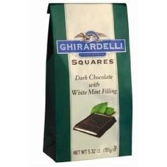 Ghirardelli Chocolate Dark Chocolate & Mint Squares Chocolates Gift Bag, 5.32 oz. - http://bestchocolateshop.com/ghirardelli-chocolate-dark-chocolate-mint-squares-chocolates-gift-bag-5-32-oz-2/