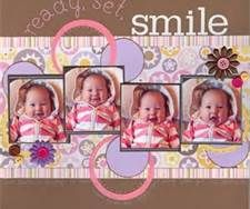 baby face scrapbook layout