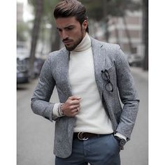 WHAT MEN WEAR — Turtle neck season. Be inspired by @marianodivaio...