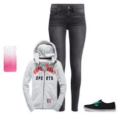 """""""Sans titre #571"""" by harrystylesandliampayne ❤ liked on Polyvore featuring H&M, Vans and J.Crew"""